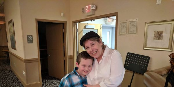 My grandson Jerry helps me out when I host the Collingswood Neighborhood concerts!