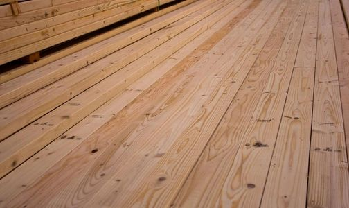 Hem-fir or white fir  2 x 4 lumber at Calvert lumber yard in Sharon, Pa.