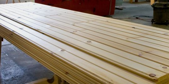 We mill our own wood siding such as log cabin, barn siding, and porch flooring and ceiling boards