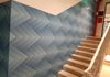 That plain old stairway looks inviting and fresh with wall graphics
