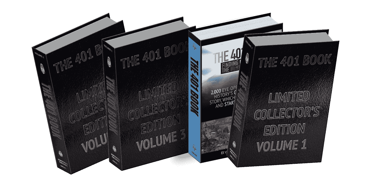 The 401 Book Limited Collector's Edition 5-Volume Set about Finding God by Finding Satan via quotes.