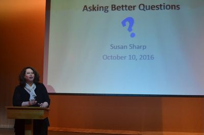 Susan speaks to The Illinois Community College Student Activities Association