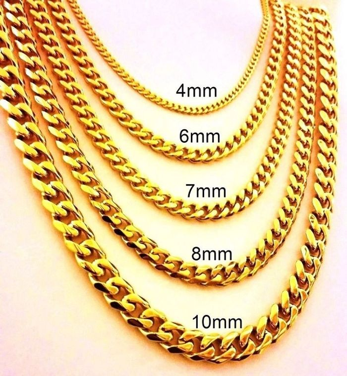 "10/14K GOLD MIAMI CUBAN LINK CHAINS from 7"" to 30"" AVAILABLE CUSTOMIZE WEIGHT AND LENGTH"