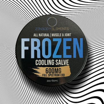 FroZen Cooling CBD Rub Feel stress reduce, inflammation decrease, muscle relax, and pain fade way.