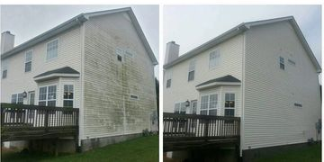 Soft Washing Vinyl Siding by www.americanpressurewashing.com