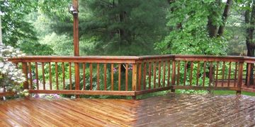 Pressure Washing and Soft Washing Wooden Decks and Wooden Fence