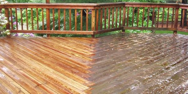 Pressure Washing Wooden Decks and Wooden Fence  by www.americanpressurewashing.com