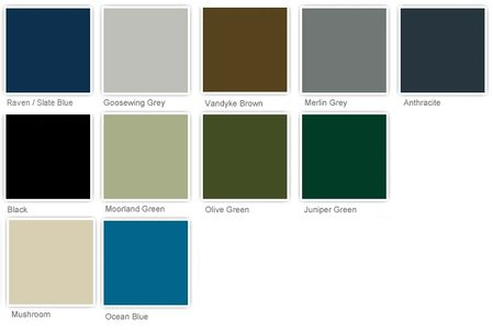 Chose from our standard range of colours. Other colours availabe on request.