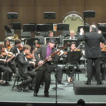 Daniel Nester performs the Mozart bassoon concerto with the USC orchestra, conducted by Yehuda Gilad