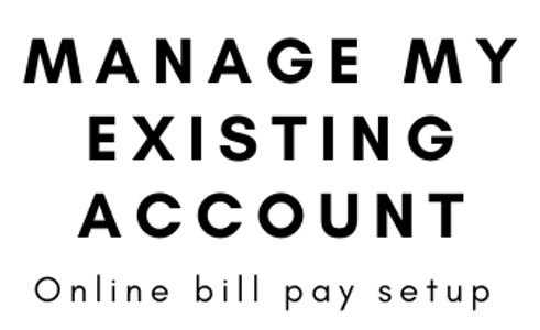 Existing account management