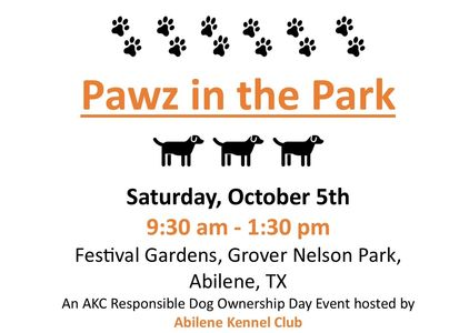 Pawz in the Park!  Bring your leashed dog and join us for family fun!
