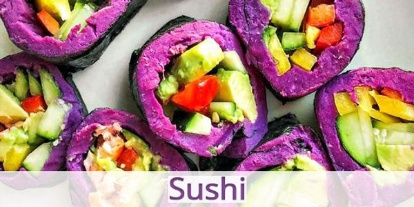 Blue Sky Farms of Florida Purple Sweet Potato Sushi