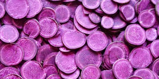 Blue Sky Farms of Florida Purple Sweet Potato Slices