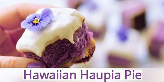 Blue Sky Farms of Florida Purple Sweet potato Hawaiian Haupia Pie