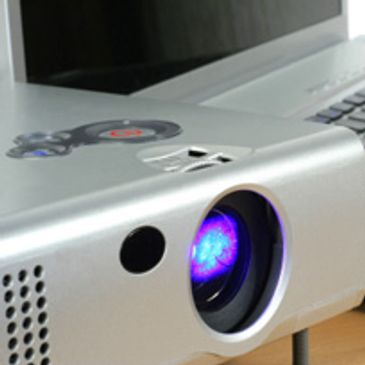 Lcd and Dlp hd projectors, computer presentation