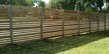 Horizontal wood fence in Austin is our primary category of wood fence installation