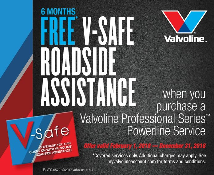 Oil Exchange Inc. Valvoline Professional Series Service Free Roadside Assistance