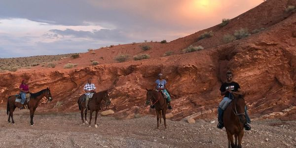 horseback riding sunset tour with dinner, meal