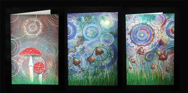 Magic Mushrooms as part of Ancestors Awakening 6x9 inch large greetings cards, printed professionall