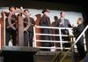 from left: Rick Speer as Lightholler, Mark Leiberman as Murdoch, George Hartpence as Captain Smith, Nick Pecht as Ismay and Scott Fegley as Etches