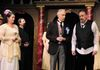 from left:  Carol Thompson as Lady Olivia,  Jim Cordingley as Priest,  Mort Paterson as Feste & Barry Abramowitz as Malvolio