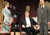 Grilling Gerald:  Tammy Goldberg as Sheila Birling,  Tim Swain as Gerald Croft & Mort Paterson as Inspector Goole