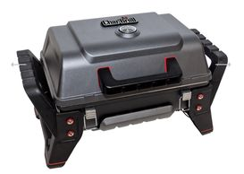"Love my portable grill. No flare ups. Cooks food really fast. Fits perfectly in my ""garage"" storage."
