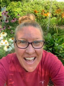 Kimberly Kolb Eakin in her garden