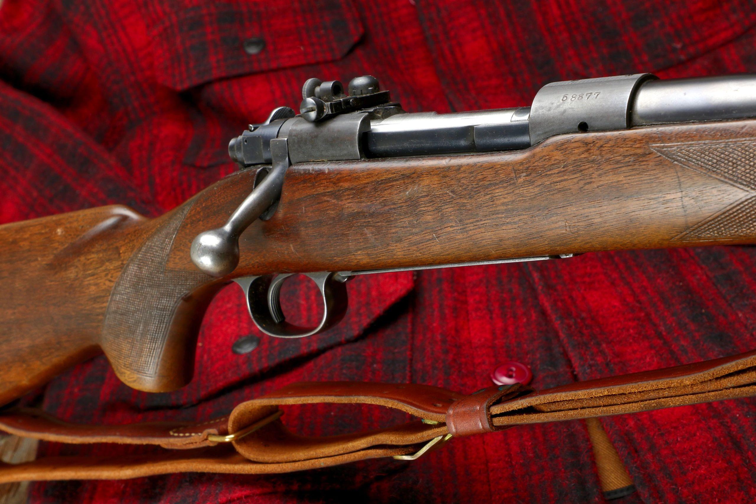 bare rear sight base Winchester model 70