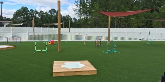 Myrtle Beach, SC dog park. Doggie Day Care. Artificial turf. Artificial lawn. Pet grass.