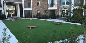 Cornhole, Commercial turf. Haven at Indigo. Mount Pleasant, SC.
