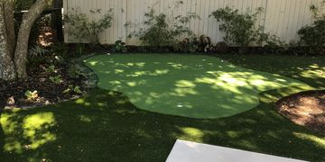 Putting green artificial turf. Daniel Island, SC. Charleston, SC. Artificial lawn.
