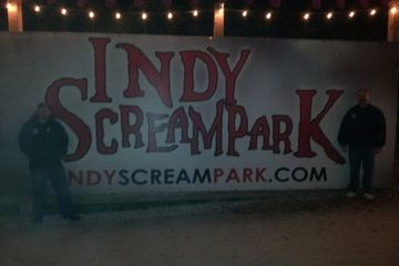 Bill and Brad at Indy Screampark