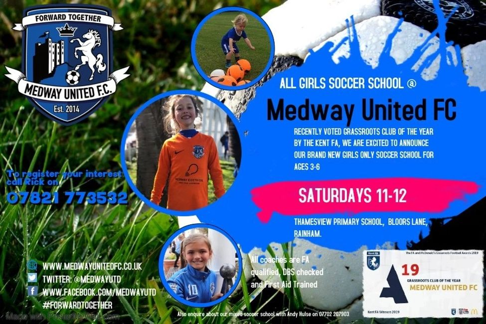 Medway United Girls Football