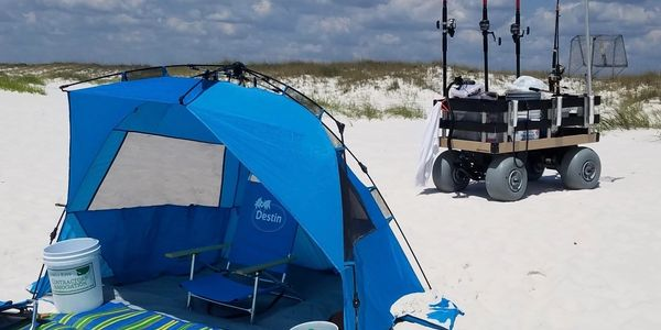 And who wouldn't want to go surf fishing in a beautiful place like Destin Beach!