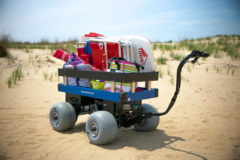 Electric Motorized Beach Cart Wagon My Sandhopper