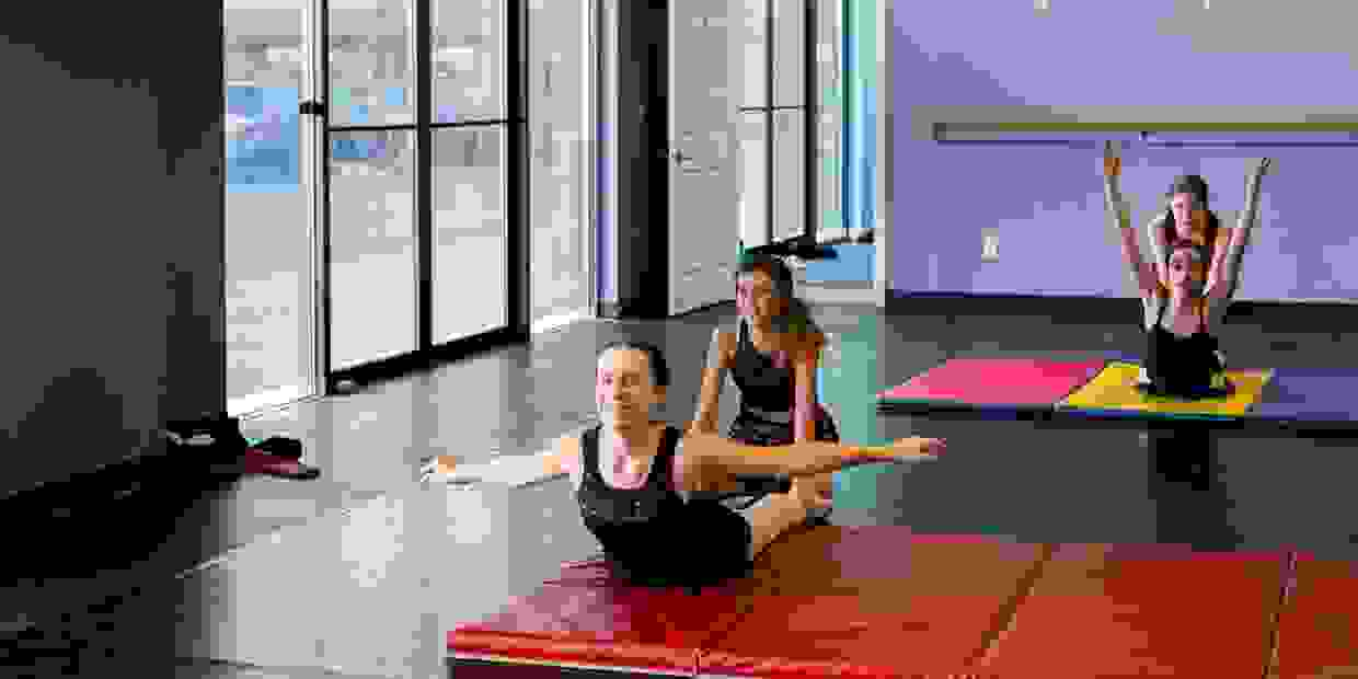 Tumbling classes help with flexibility.