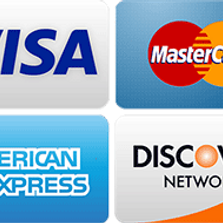 We accept Checks, all Credit cards Apple pay & zelle