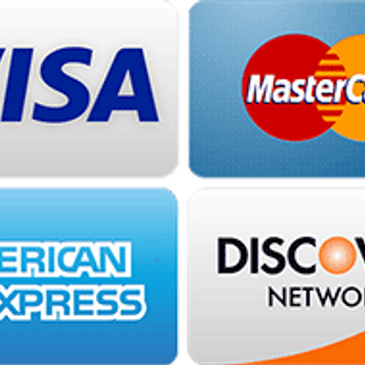 We accept Checks, Credit cards Apple pay, zelle & PayPal