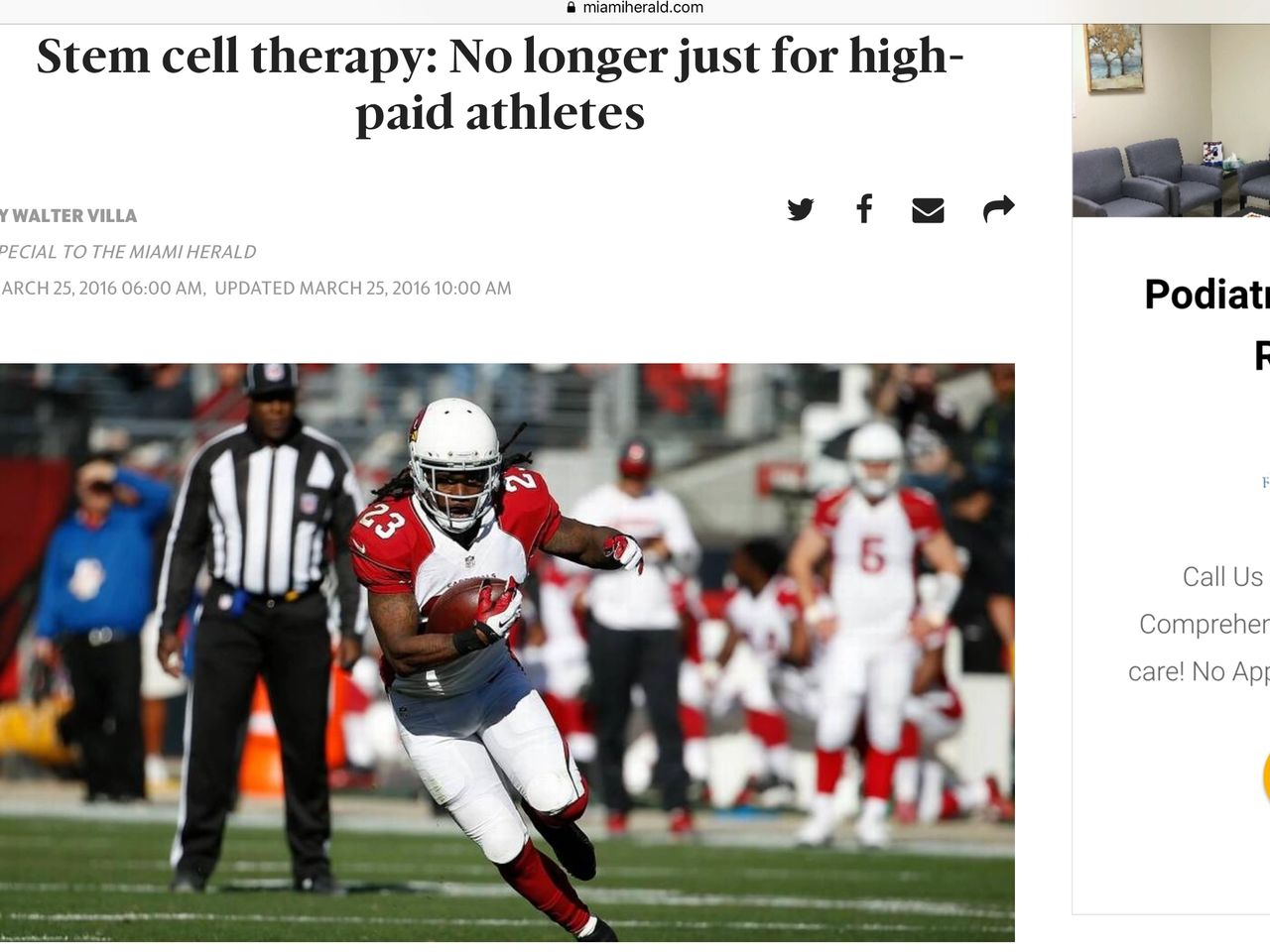 Stem cell therapy: No longer just for high-paid athletes
