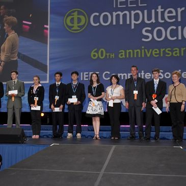 International Science and Engineering Fair  (May 2006).  Presenting  IEEE Computer Society awards.