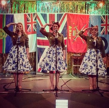 Wartime, remembrance, singers, 1940, events, military, navy, british legion, Andrews sisters,