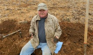 Digging a Civil War Confederate Hut Site.