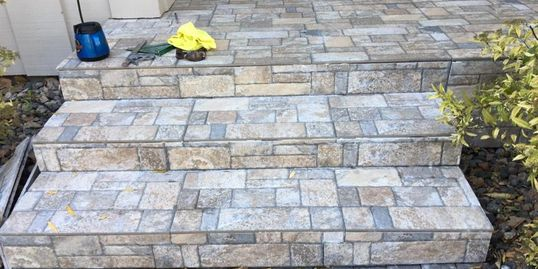 Exterior tiling, concrete step repair, porch tiles, tiles over concrete, porch upgrade