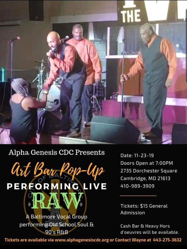 RAW vocal Group Singing Oldies, Old School Music, 90's hip-hop like Boyz to Men.