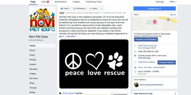 We have built vital social media pages for the Michigan State Fair, LLC and Novi Pet Expo, plus more