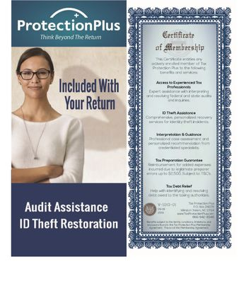 We have partnered with Protection Plus this tax season to provide all of our individual tax clients
