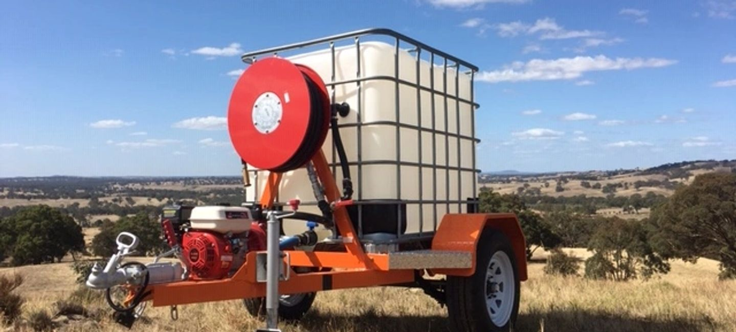 New and Australian made, The Orange Fire Trailer is an great investment if you live on acreage.