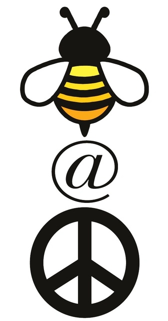bee @ peace logo here