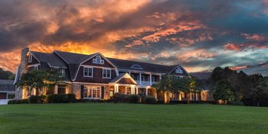 Real Estate photograph, composite image, Sunset